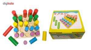 بازی چوبین استوانه های اندازه گیری مونته سوری مدل وودتویز
