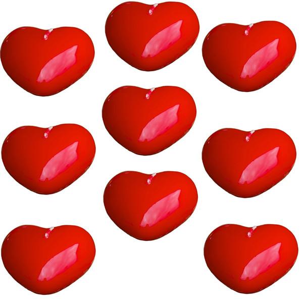 شمع عشق مدل Love Pocket  بسته 9 تایی به همراه یک عدد استیکر چوبی طرح قلب