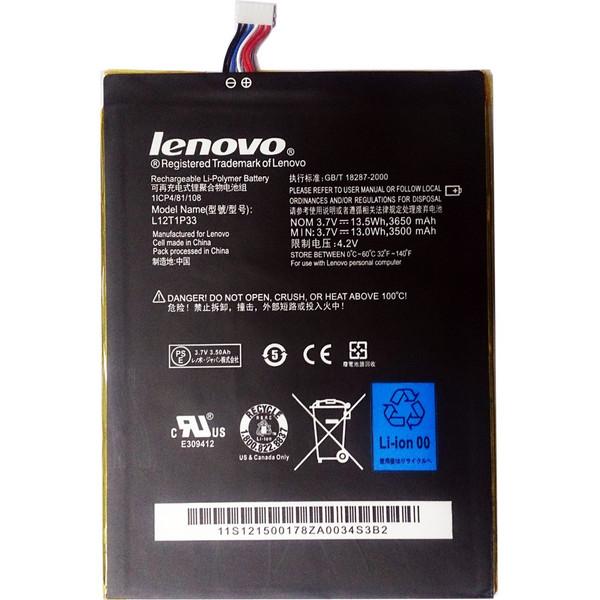 باتری تبلت مدل L12T1P33 با ظرفیت 3650mAh مناسب برای تبلت لنوو Idea Tab A3000