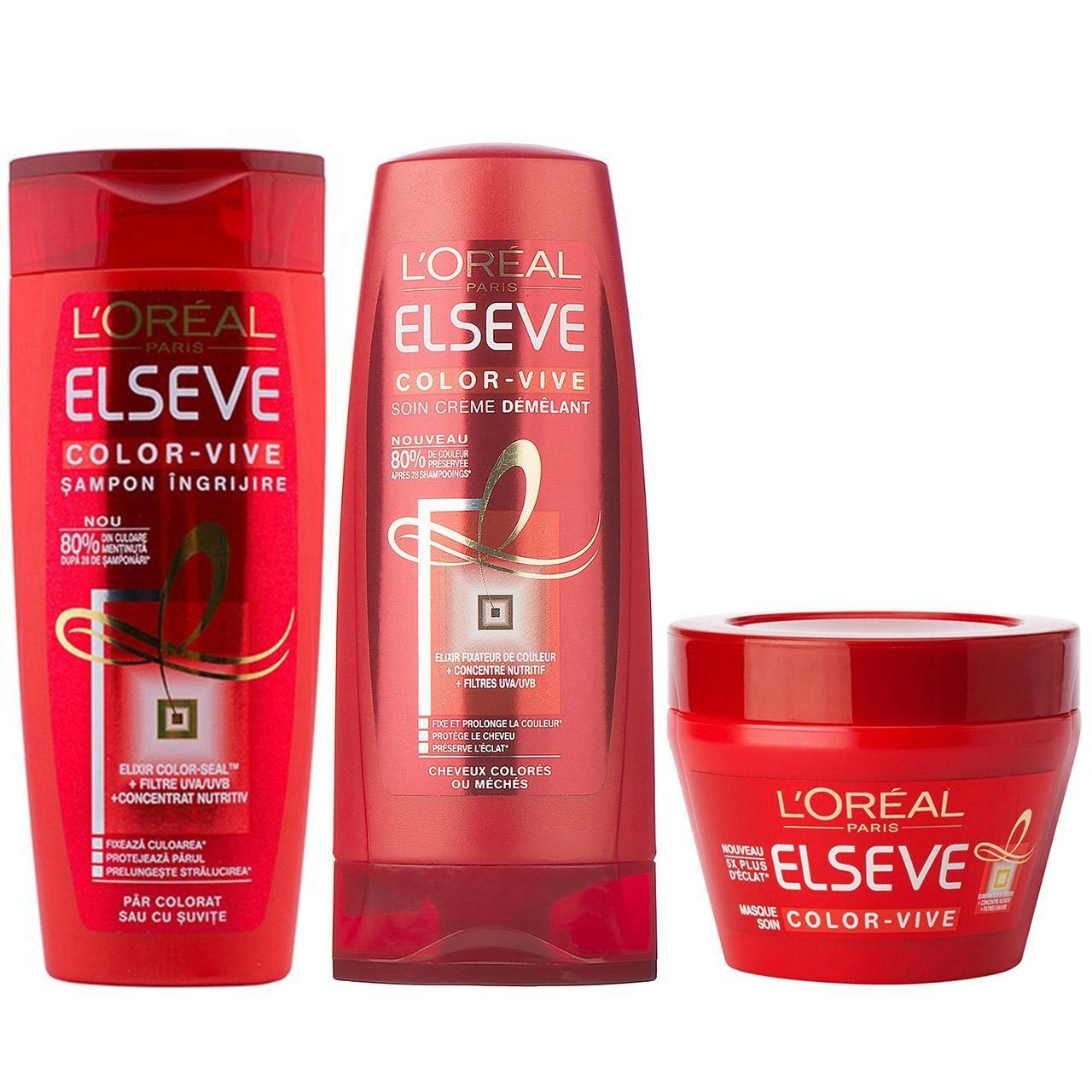 قیمت پک تثبیت کننده رنگ مو لورآل سری Elseve مدل Color Vive بسته 3 عددی