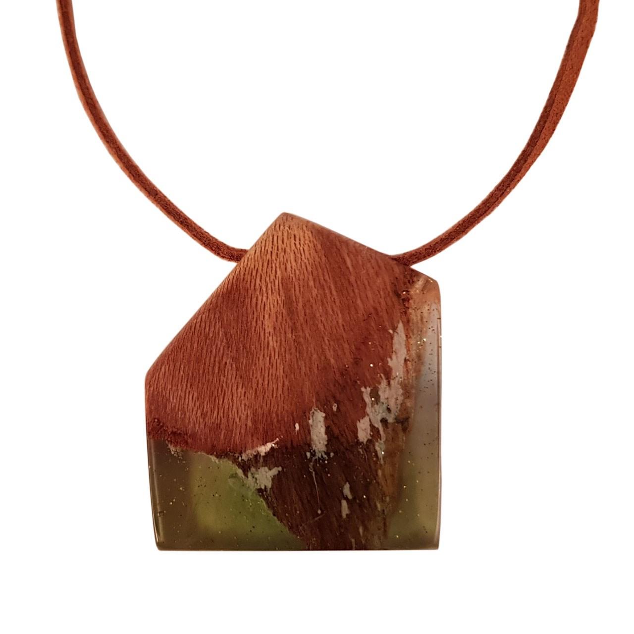 گردنبند چوب و رزین اکسار کد 116