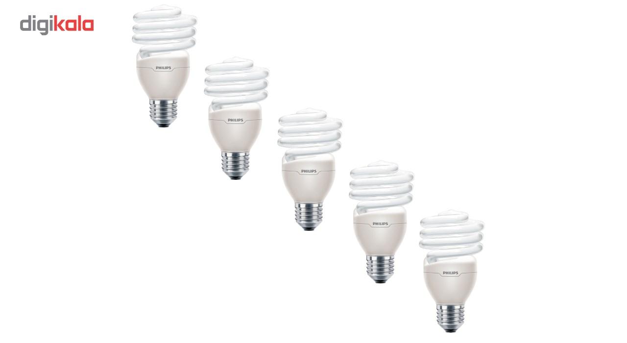 لامپ کم مصرف 20 وات فیلیپس مدل Tornado پایه E27 بسته 5 عددی