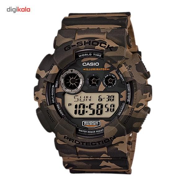 خرید ساعت مچی دیجیتالی مردانه کاسیو جی شاک GD-120CM-5DR | ساعت مچی