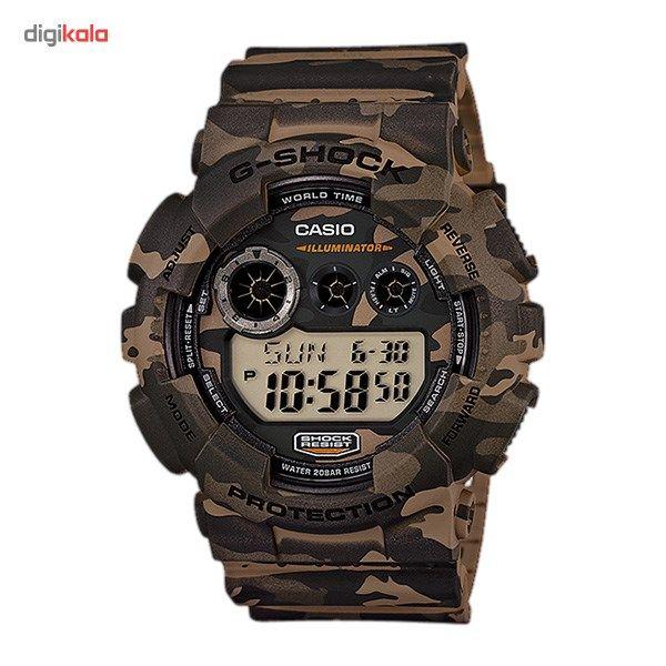 ساعت مچی دیجیتالی مردانه کاسیو جی شاک GD-120CM-5DR -  - 2