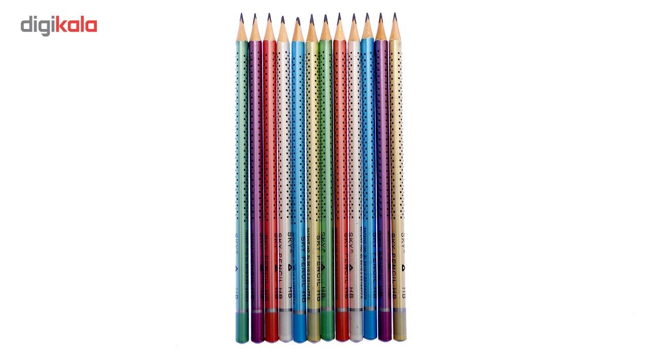 مداد مشکی اسکای SKY HB مدل نقطه بسته 12 عددی main 1 2