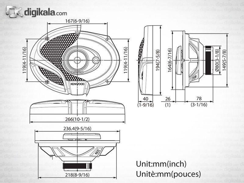 اسپیکر خودرو کنوود KFC-M6934A main 1 4