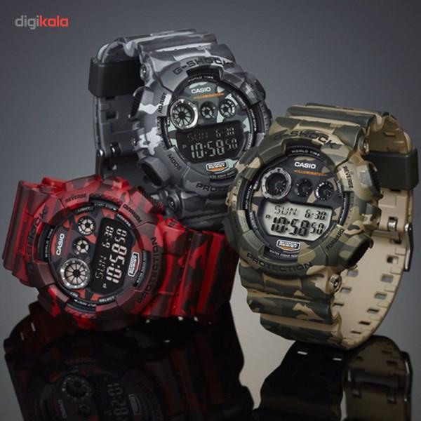 ساعت مچی دیجیتالی مردانه کاسیو جی شاک GD-120CM-5DR -  - 1
