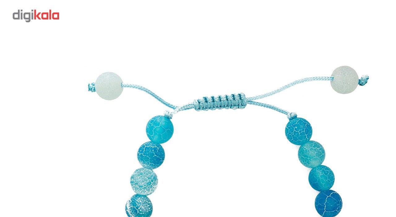 دستبند نوژین مدل فروردین آبی -  - 5