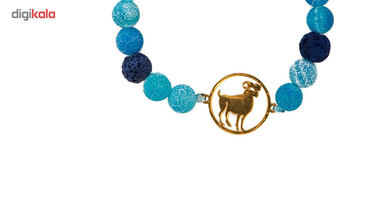 دستبند نوژین مدل فروردین آبی -  - 4