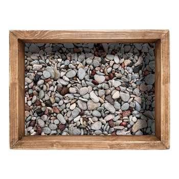 استیکر سه بعدی زمینی سالسو طرح سنگی