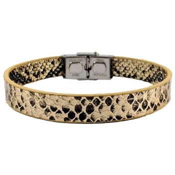 دستبند چرم حامد گالری طرح پوست مار مدل bl4028