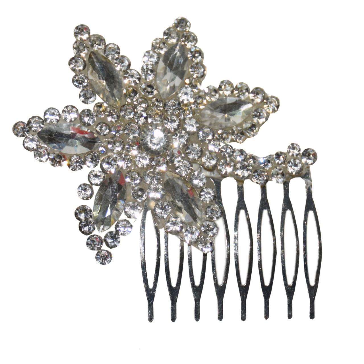 شانه مو بهار طرح گل شش پر مدل 002