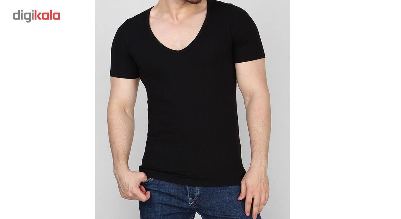 زیرپوش آستین کوتاه مردانه مدلAB main 1 2