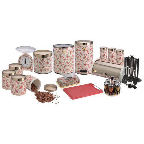 سرویس آشپزخانه 28 پارچه پاین ست مدل گل سرخ