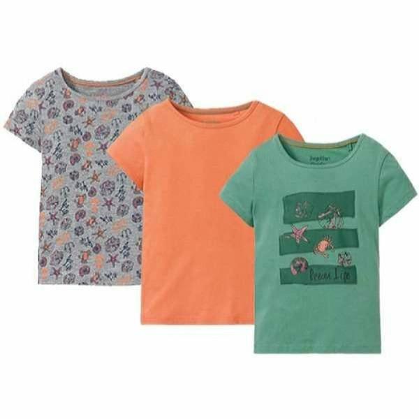 تی شرت آستین کوتاه دخترانه لوپیلو مدل 2020 مجموعه 3 عددی