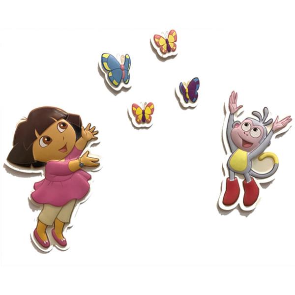 استیکر شبرنگ 6 تکه دکوفان مدل Dora