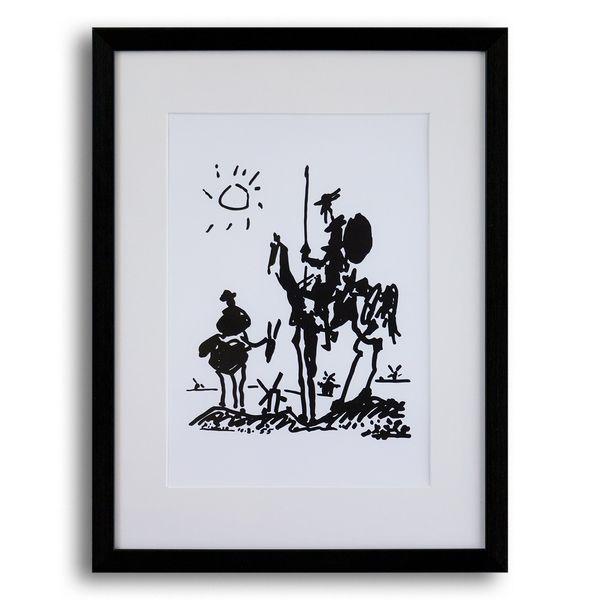تابلو گروه هنری ارژنگ طرح دن کیشوت کد A001 سایز 30x40 سانتی متر