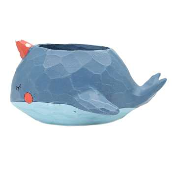 گلدان دکوگل طرح نهنگ آبی مدل DG002