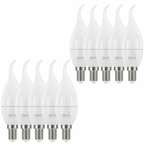 لامپ ال ای دی 6 وات پارسه شید مدل PL6 پایه E14 بسته 10 عددی