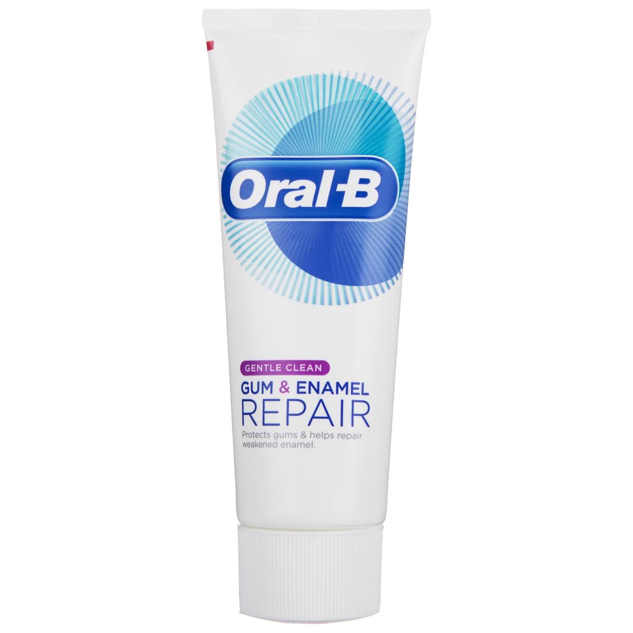 قیمت خمیر دندان اورال بی سری Gum And Enamel Repair مدل Gentle Clean حجم 75 میلی لیتر