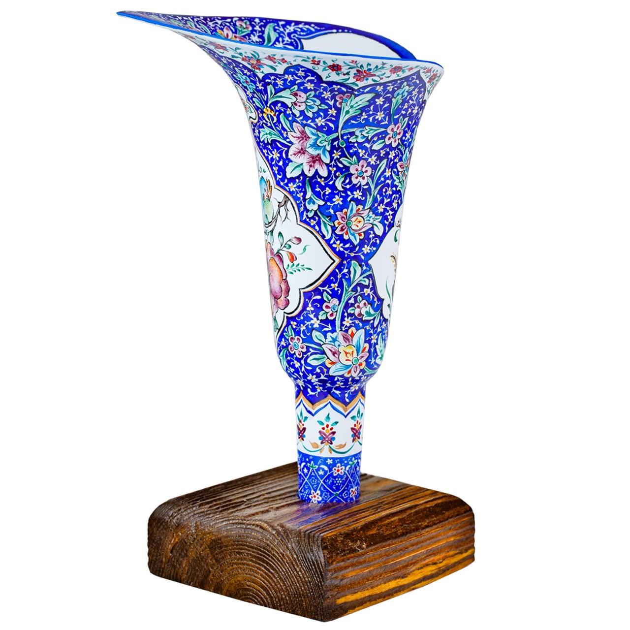گلدان مسی میناکاری شده رزدیس مدل sheypoori-01