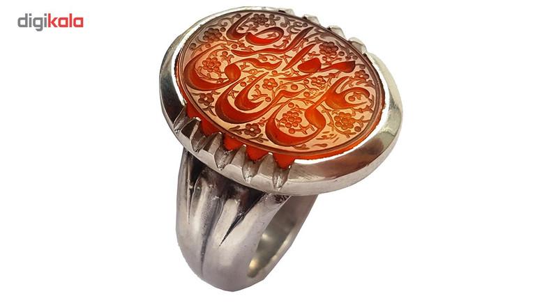 انگشتر نقره جواهرسرا مدل عقیق کد a305jw
