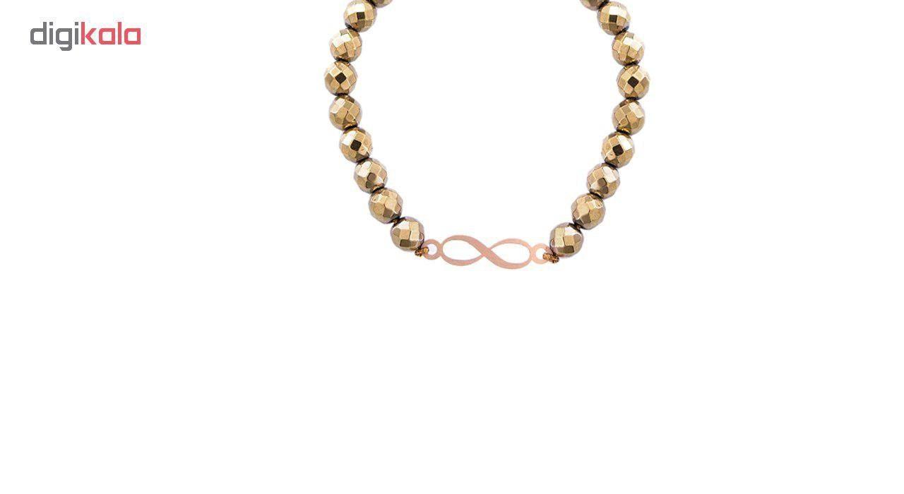 دستبند طلا 18 عیار مرجان مدل 0747