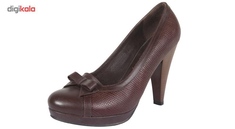کفش چرم زنانه  شهرچرم مدل 3-39230