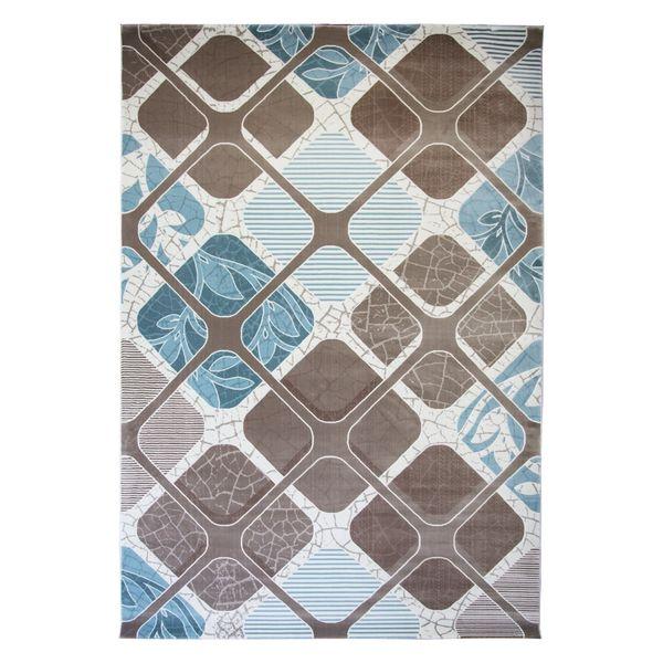 فرش ماشینی ساوین کد 1510 زمینه آبی