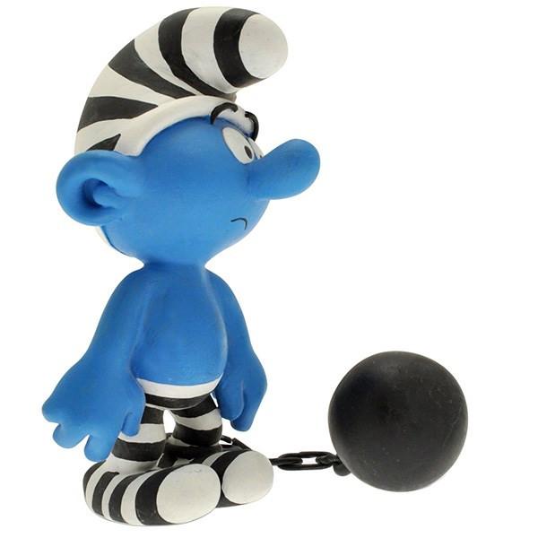 عروسک اسمورف زندانی پلستوی کد 00164 سایز 1