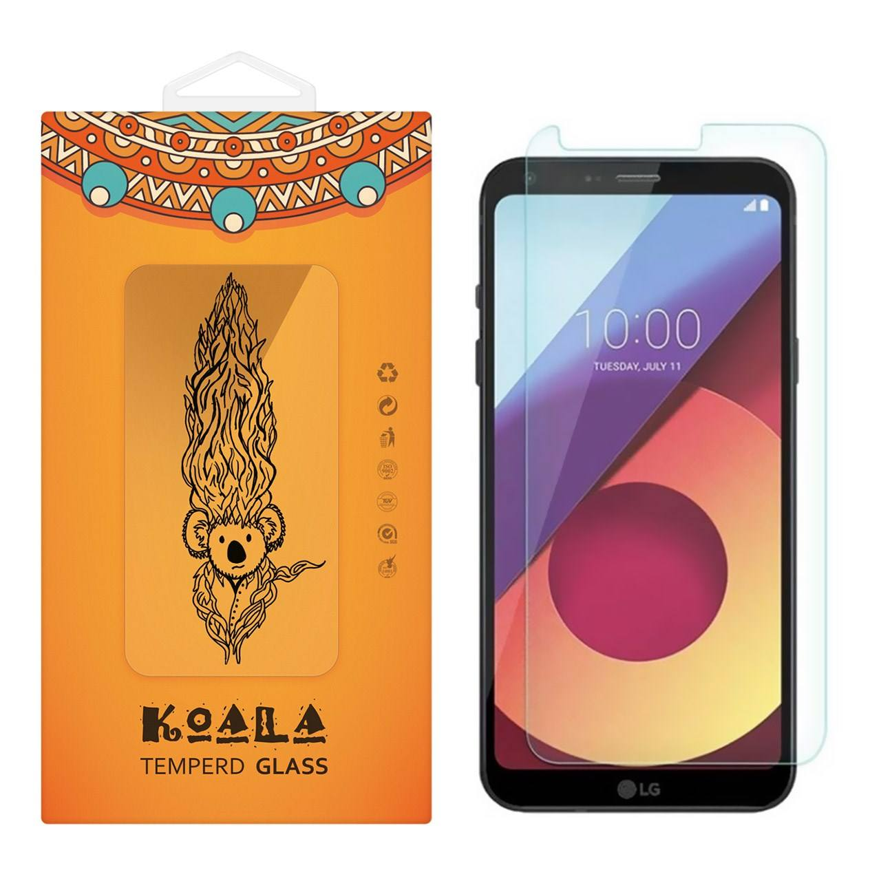 محافظ صفحه نمایش شیشه ای کوالا مدل Tempered مناسب برای گوشی موبایل ال جی Q6
