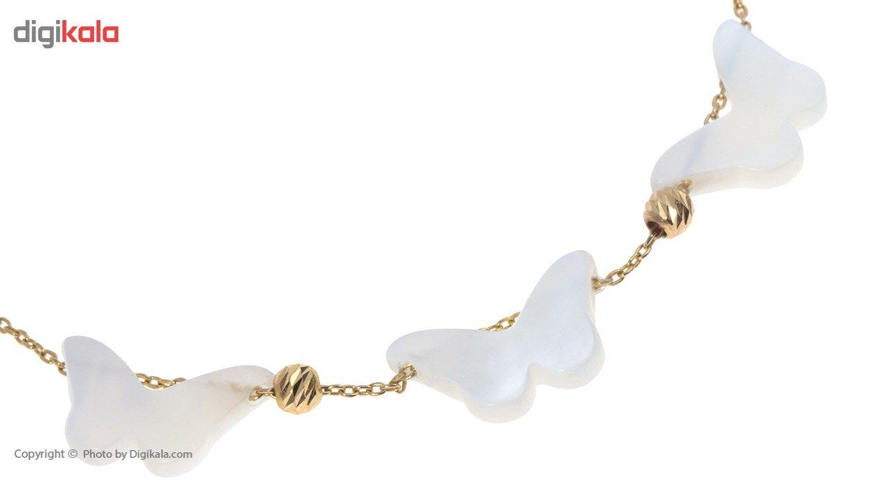 دستبند طلا 18 عیار ماهک مدل MB0390 - مایا ماهک -  - 3