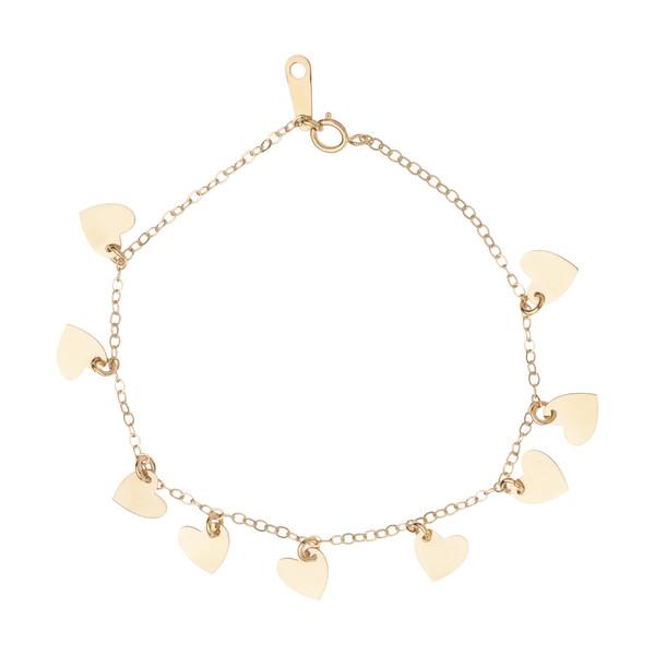 دستبند طلا 18 عیار زنانه مدیسا مدل B3002