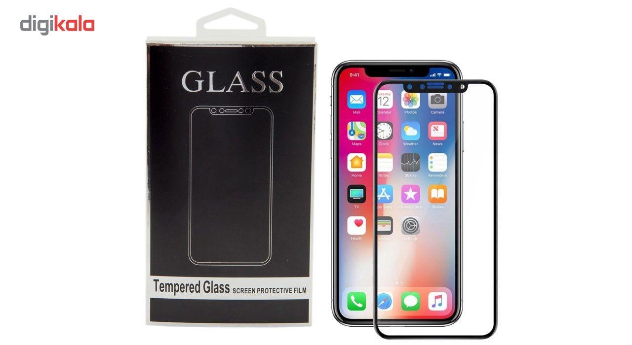 محافظ صفحه نمایش تمام چسب شیشه ای مدل 5D مناسب برای گوشی اپل آیفون X main 1 1