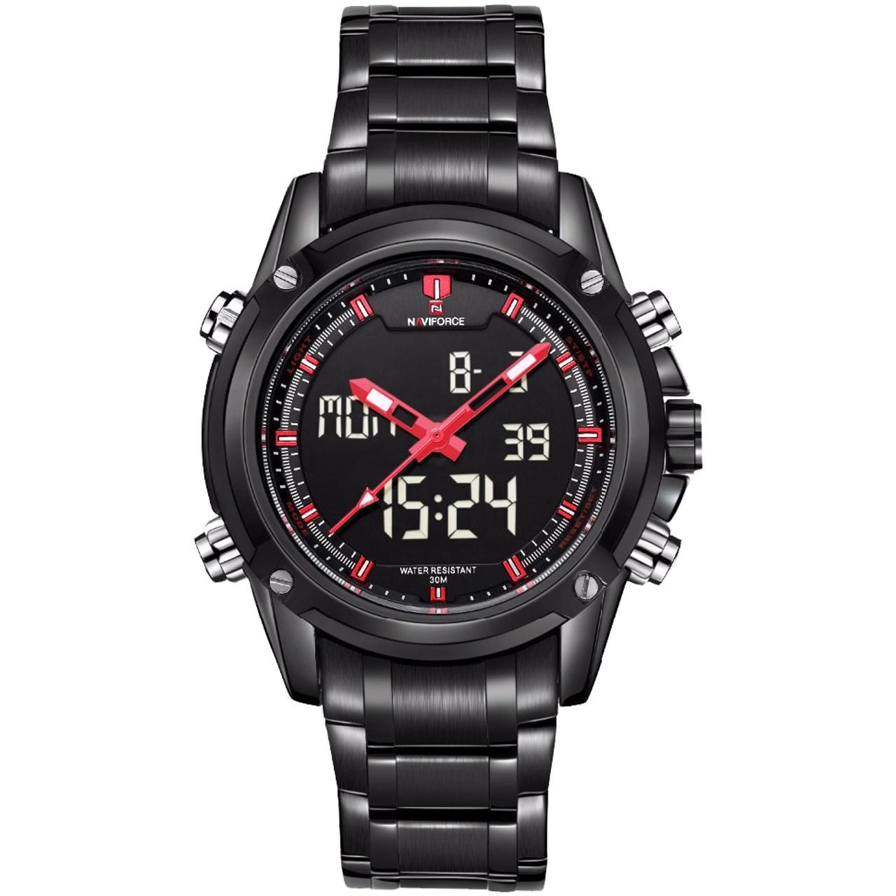 ساعت مچی عقربه ای مردانه نیوی فورس مدل NF9050M/BBR