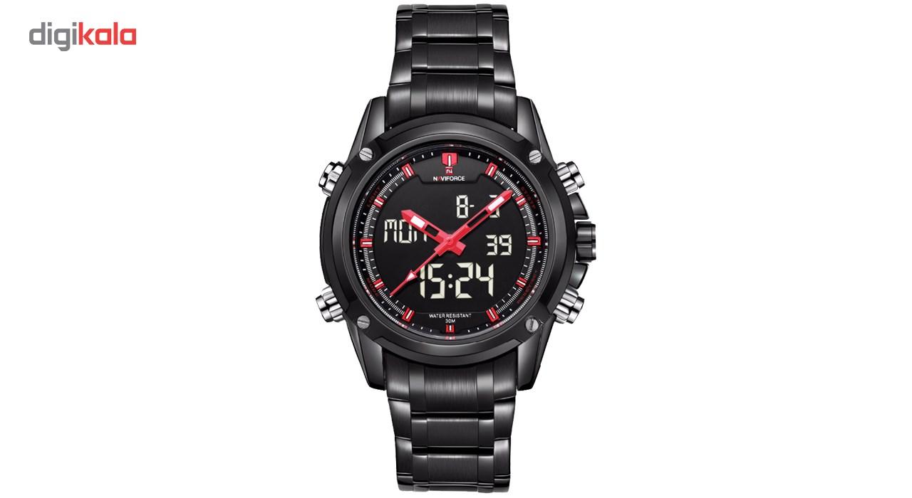 خرید ساعت مچی عقربه ای مردانه نیوی فورس مدل NF9050M/BBR