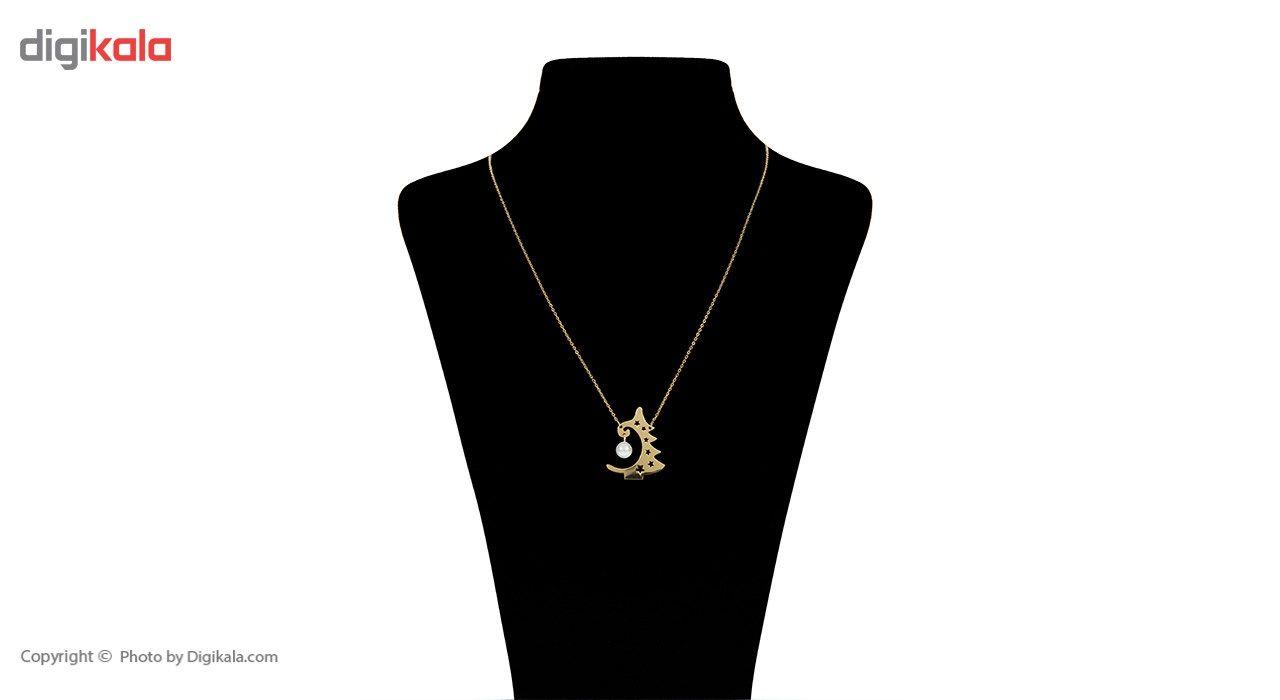 گردنبند طلا 18 عیار ماهک مدل MM0631 -  - 1