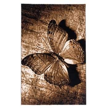 فرش ماشینی دنیای فرش طرح پروانه