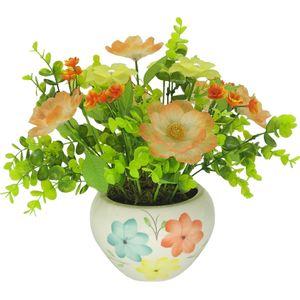 گلدان سرامیک و گل های کریستال دست ساز کیدتونز کدKSH-022