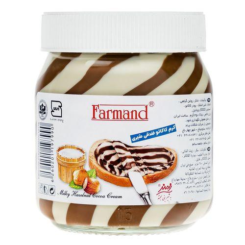 کرم کاکائو فندقی شیری فرمند مقدار 350 گرم