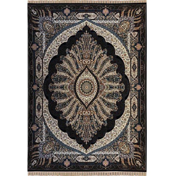 فرش ماشینی توس مشهد طرح شبنم زمینه ی سرمه ای