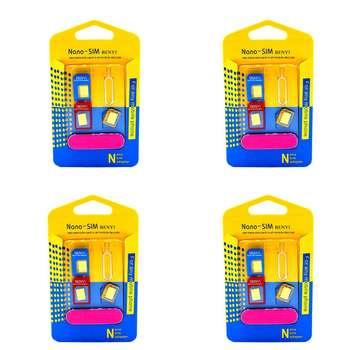 تبدیل سیم کارت های نانو و میکرو به استاندارد بنی مجموعه 4 عددی