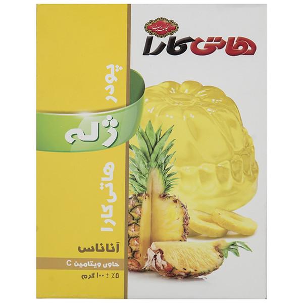 پودر ژله آناناس هاتی کارا مقدار 100 گرم