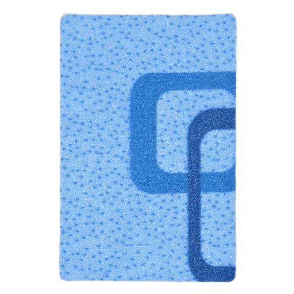 موکت ظریف مصور طرح سایه زمینه آبی کد 2061