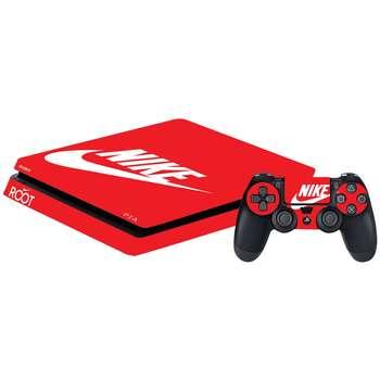 برچسب افقی پلی استیشن 4 گراسیپا طرح Red Nike