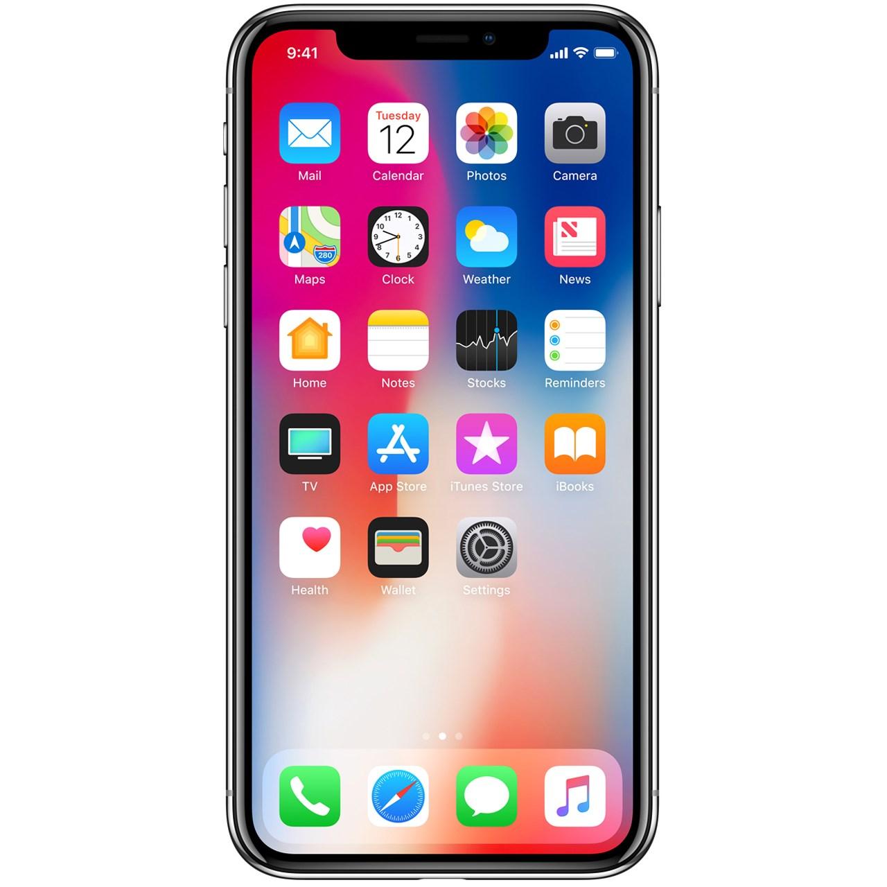 گوشی موبایل اپل مدل iPhone X ظرفیت ۶۴ گیگابایت