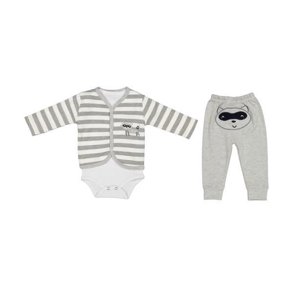 ست 3 تکه لباس نوزاد بی بی وان مدل راکون کد 360
