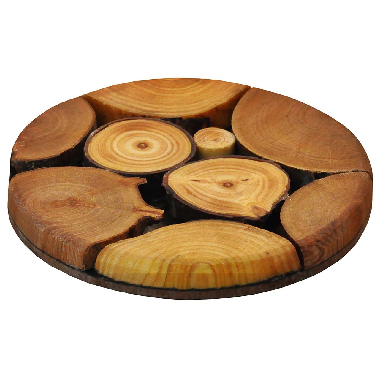 زیرلیوانی چوبی WeWood طرح پازلی دایره ای