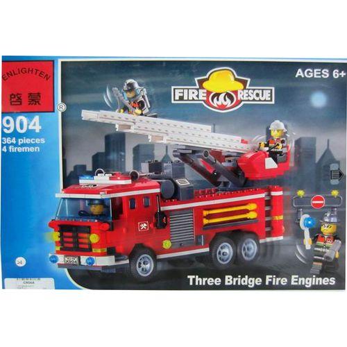لگو آتش نشانی انلایتن مدل 904 تعداد364  قطعه
