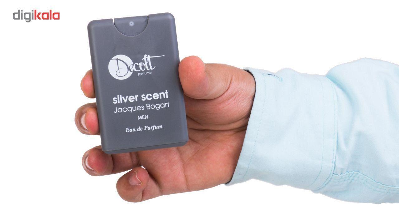 عطر جیبی مردانه دکلت رایحه Silver Scent Jacques Bogart حجم 20 میلی لیتر -  - 5